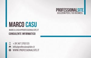 Biglietto da Visita Professionalsite Fronte