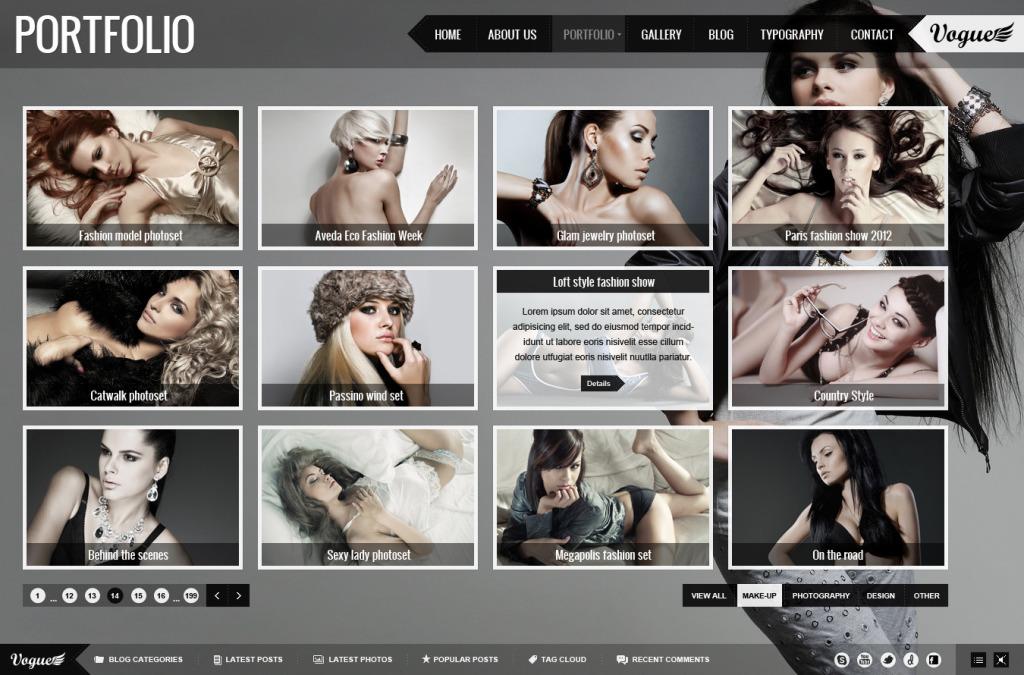 Realizzazione sito web modella