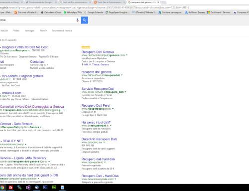 [SEO] Prima posizione su Google con key inerenti al recupero dati